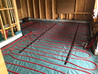 Laying Pipes For Underfloor Heating