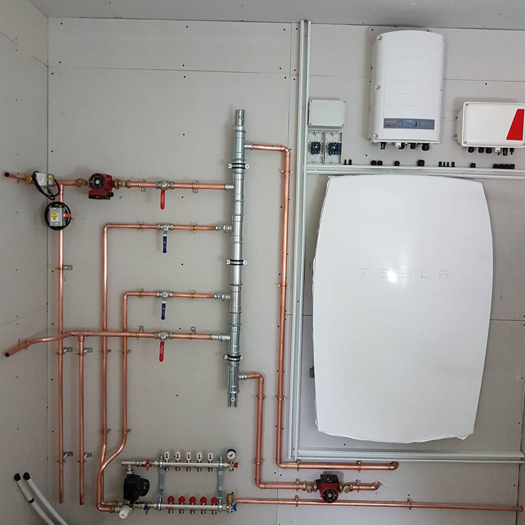 Mitsubishi Heat Pump Underfloor Heating Tesla Powerwall