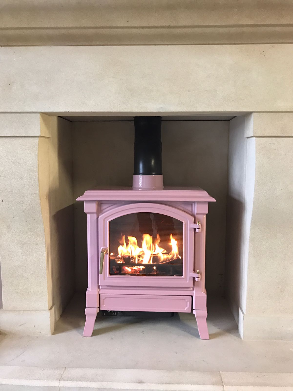 Poppy The Pink Nestor Martin Stove Is Lit In Time For